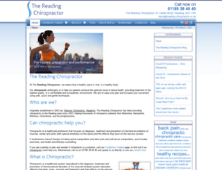 reading-chiropractor.co.uk screenshot