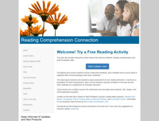 readingcomprehensionconnection.com screenshot