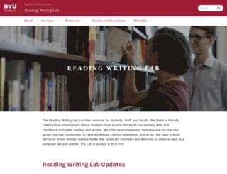readingwritingcenter.byuh.edu screenshot