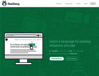 readlang.com screenshot