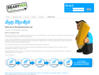 readymixemail.co.uk screenshot