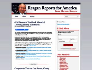 reaganreports.com screenshot