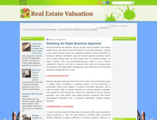 realestatevaluations.blogspot.com screenshot