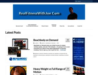 realfitnesswithjoe.com screenshot