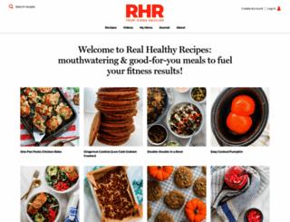 realhealthyrecipes.com screenshot