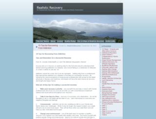 realisticrecovery.wordpress.com screenshot