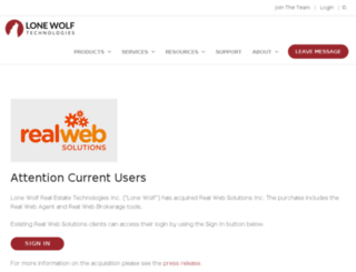 realwebsolutions.com screenshot