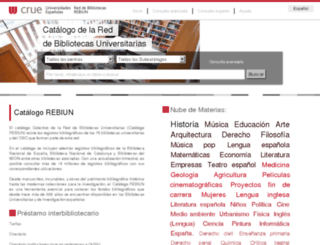 rebiun.crue.org screenshot
