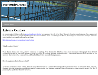 rec-centre.com screenshot