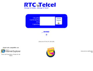 recargatutelcel.net screenshot