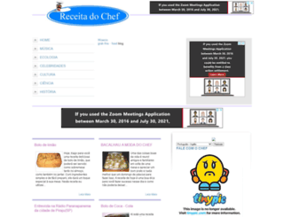 receitadochef.blogspot.com screenshot