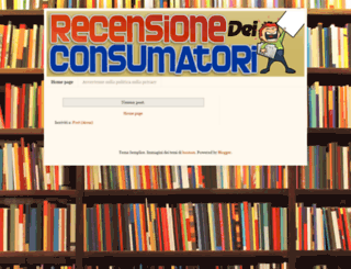 recensionedeiconsumatori.blogspot.ca screenshot