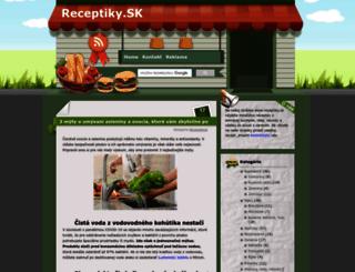 receptiky.sk screenshot