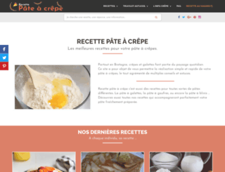 recette-pateacrepe.fr screenshot