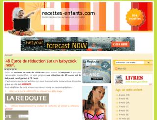 recettes-enfants.com screenshot