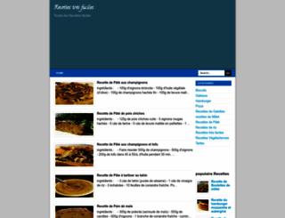 recettestresfaciles.blogspot.com screenshot