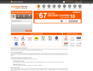 rechargeitnow.com screenshot