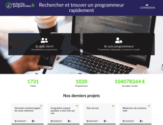 recherche-programmeur.fr screenshot