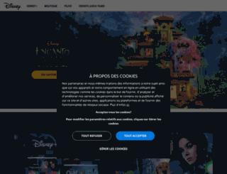 recherche.disney.fr screenshot