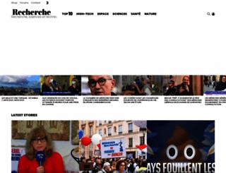 recherche.fr screenshot