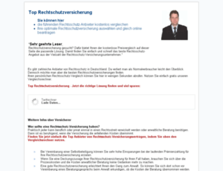 rechtschutz-versicherungen.com screenshot