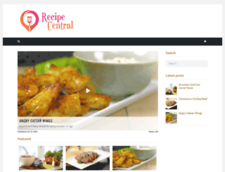 recipecentral.com screenshot