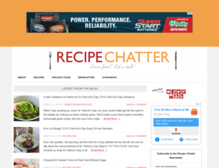 recipechatter.com screenshot