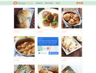 recipegraze.com screenshot