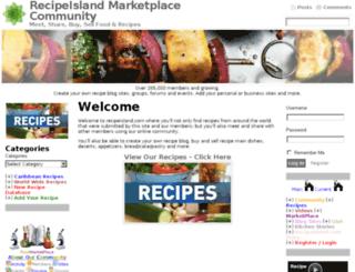 recipeisland.com screenshot