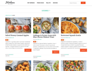 recipes.farmhousedelivery.com screenshot
