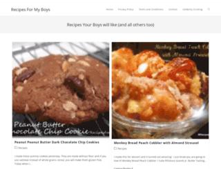 recipesformyboys.com screenshot