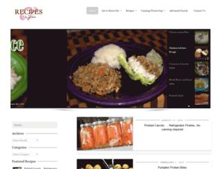 recipeswelove.net screenshot