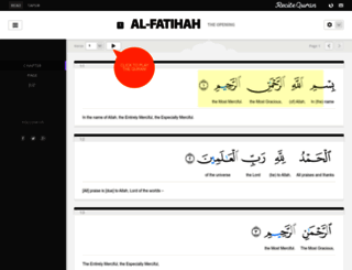 recitequran.com screenshot