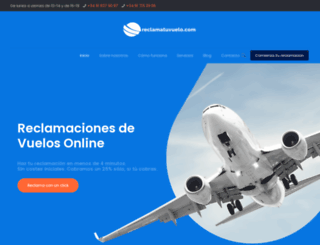 reclamatuvuelo.com screenshot