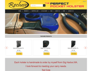 recluseholster.com screenshot