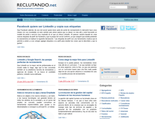 reclutando.net screenshot