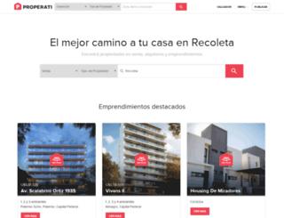 recoleta.properati.com.ar screenshot