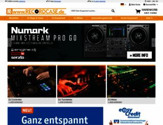 recordcase.de screenshot