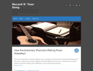 recordiysong.com screenshot