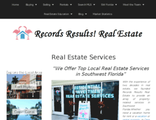 recordsresultsrealestate.com screenshot
