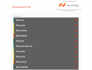 recoveraccount.net screenshot