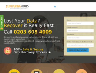 recoveringroots.co.uk screenshot