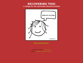 recoveringyogi.com screenshot