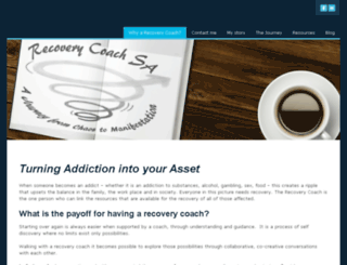 recoverycoachsa.co.za screenshot