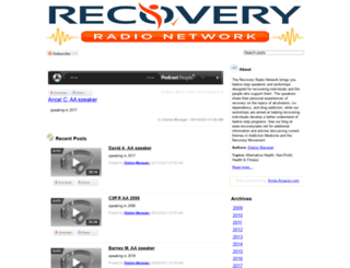 recoveryradionetwork.podcastpeople.com screenshot