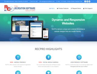 recprosoftware.com screenshot