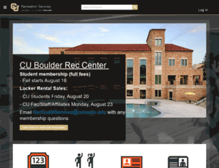 recreation-portal.colorado.edu screenshot