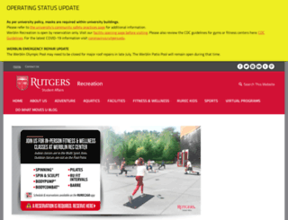 recreation.rutgers.edu screenshot