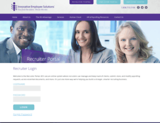 recruiters.innovativeemployeesolutions.com screenshot