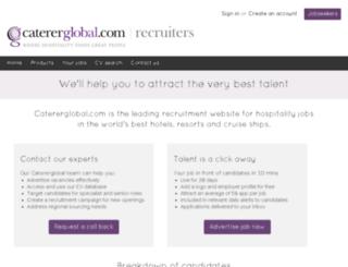 recruiterservices.catererglobal.com screenshot